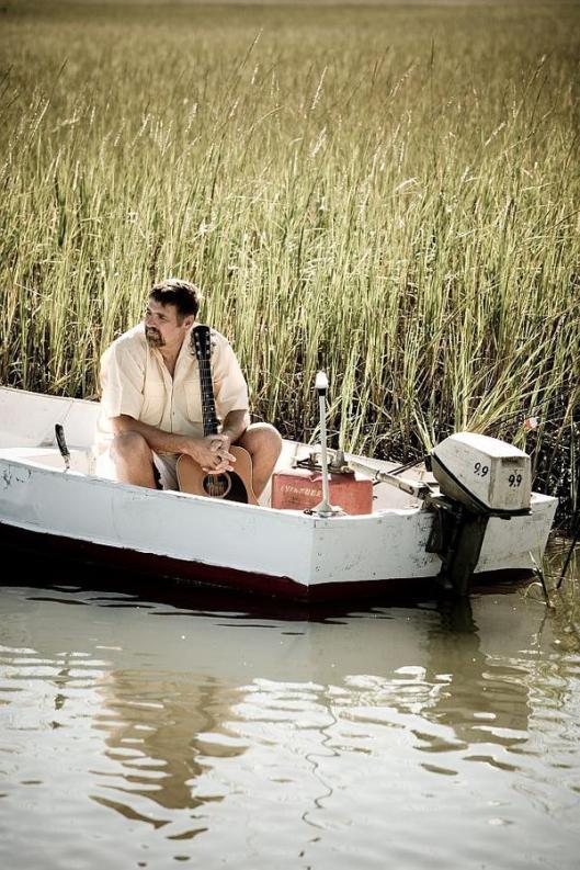 clay in the jon boat