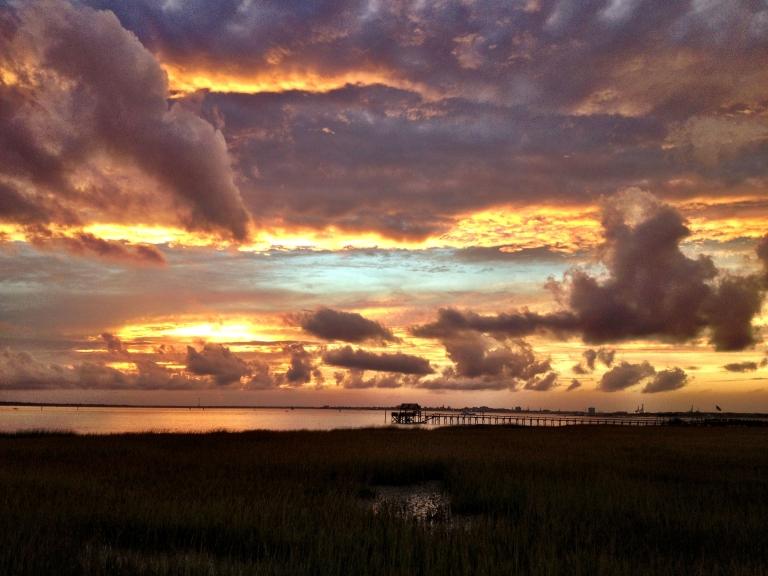 Charleston Harbor sunset 1
