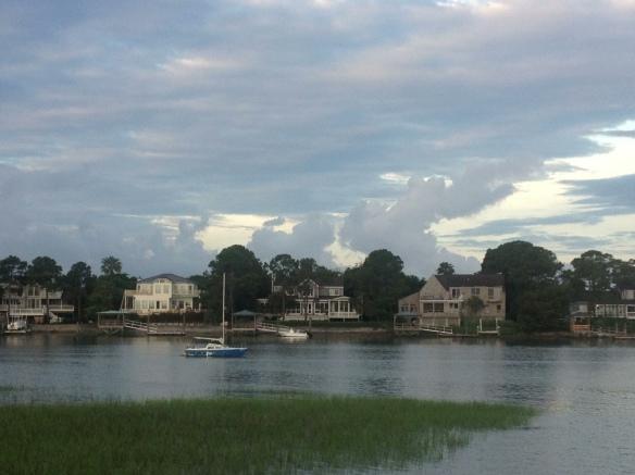 Sunrise on sailboat